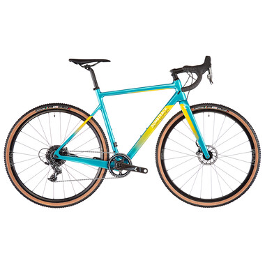 Vélo de Gravel BOMBTRACK Tension C DISC Sram Force 40 Dents Bleu/Jaune 2021